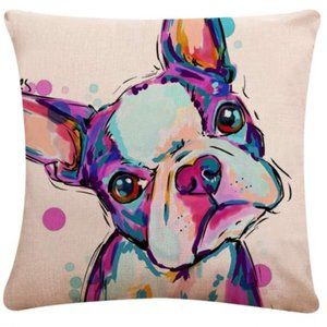 French Bulldog Throw Pillow Covers NWT